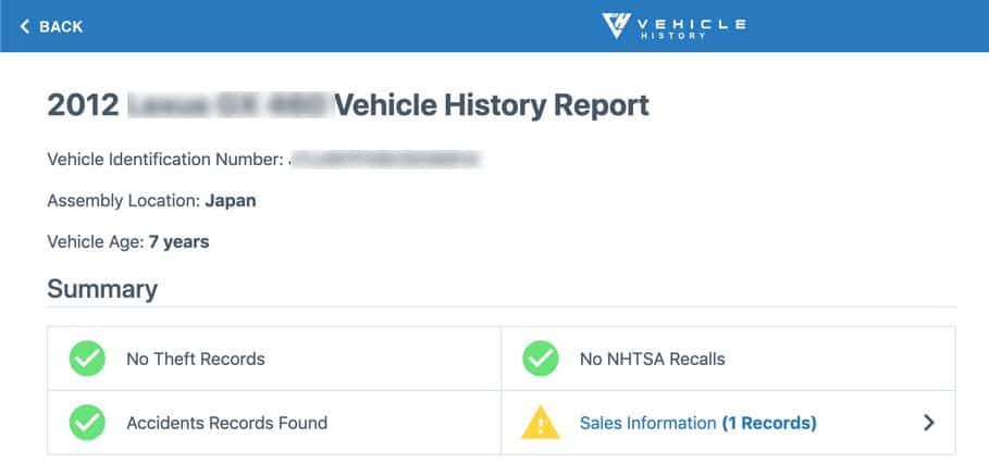 Vehicle History Free VIN Search1 Frugal Reality