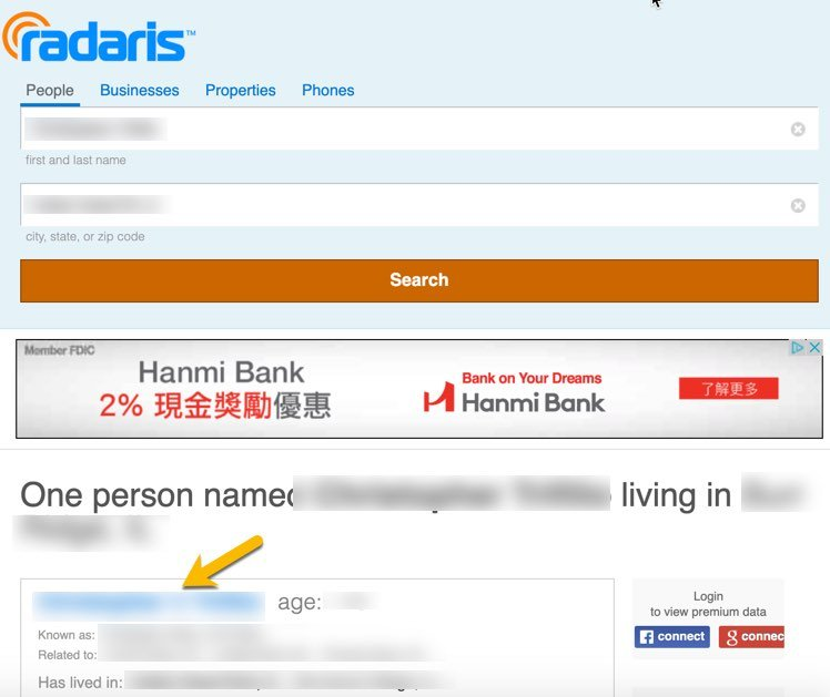 Remove name from Radaris FrugalReality-1