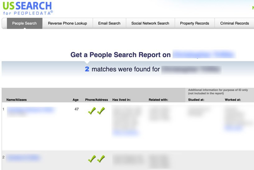 remove from ussearch FrugalReality