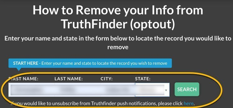 remove name from Truthfinder FrugalReality-3