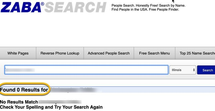 zabasearch removal FrugalReality