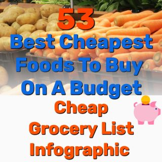 53 Best Cheapest Foods To Buy On A Budget – Cheap Grocery List (INFOGRAPHIC)