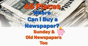 Where to buy newspapers - Frugal Reality