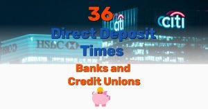 Direct Deposit Times Hit - Frugal Reality