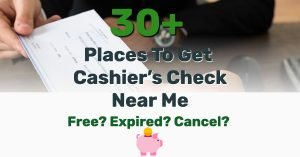 Cashiers Check Near Me - Frugal Reality