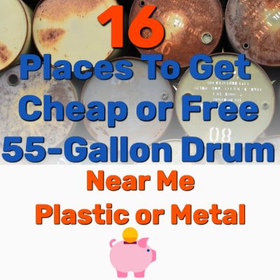 free 55 gallon drum plastic metal - Frugal Reality