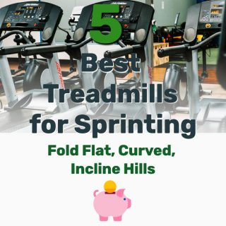 5 Best Treadmills for Sprinting (Fold Flat, Curved, Incline Hills)
