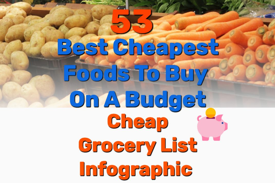 Cheapest food to buy grocery list - Frugal Reality
