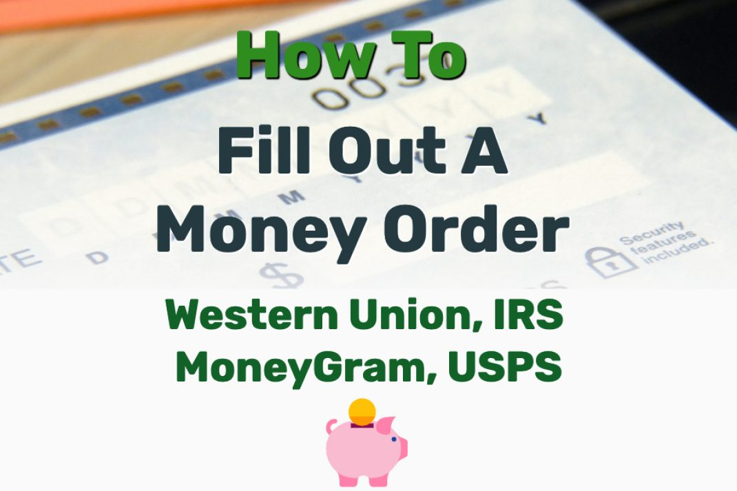 How To Fill Out Money Order - Frugal Reality